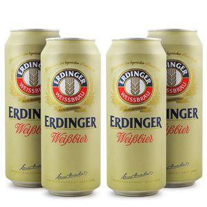 Pack-4-cervejas-alema-Erdinger-Weissbier-Lata-500m