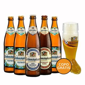 Kit-5-Cervejas-Weihenstephaner-500ml--Copo-Bota-Bi
