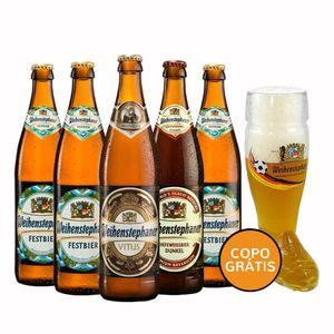 Kit-5-Cervejas-Weihenstephaner-500ml--Copo-Bota-Bi
