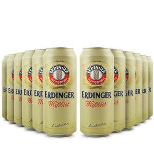 Pack-12-cervejas-alema-Erdinger-Weissbier-Lata-500