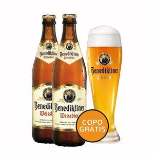 Pack-2-Cervejas-Benediktiner-Weissbier-500ml--Copo