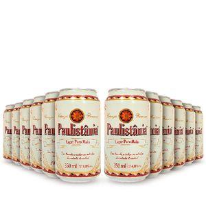 Pack-12-cervejas-artesanal-Paulistania-Lager-Lata-