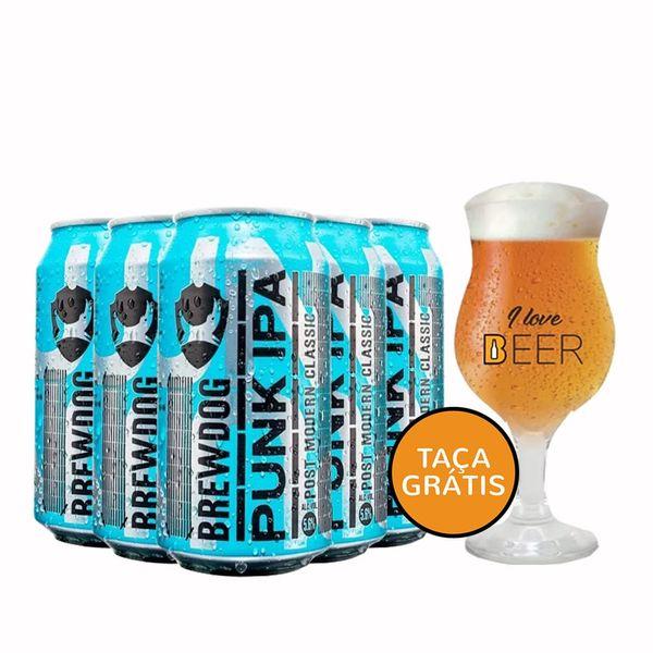 Kit-5-Cervejas-Brewdog-Punk-Ipa-Lata-350ml--Taca-G