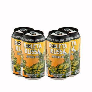 Pack-4-Cervejas-Roleta-Russa-Imperial-IPA-Lata-350