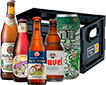 Kit de cervejas + engradado